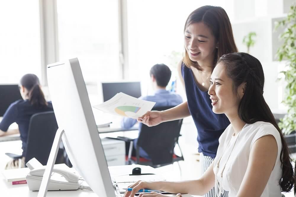 労働生産性を高めた職場のイメージ