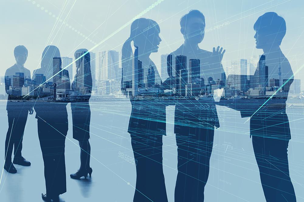 社員との対話を増やし離職率を下げるイメージ